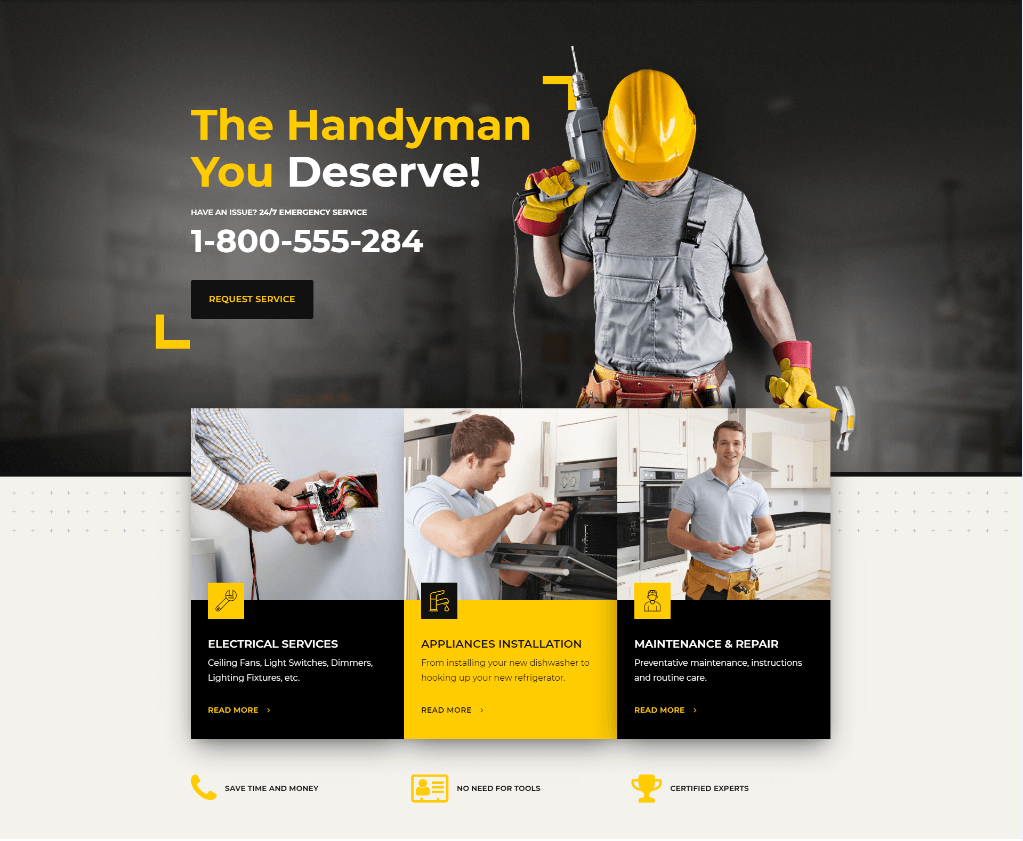 Создание сайта строительной компании - Вордпресс