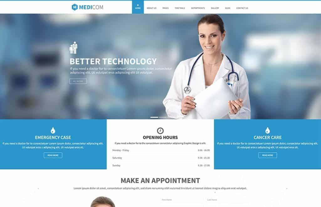 Создание медицинского сайта - WordPress