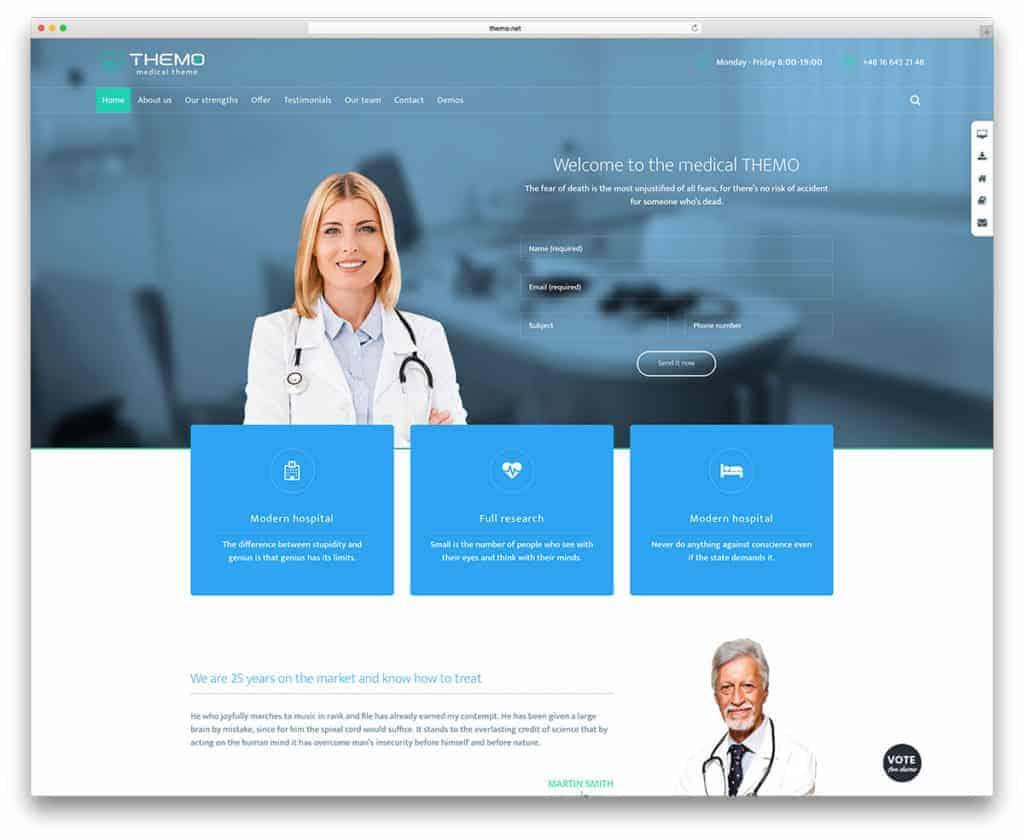 Створення медичного сайту - індивідуальний дизайн